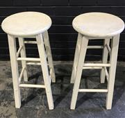 Sale 8979 - Lot 1035 - Pair of Timber Barstools (h:68cm)