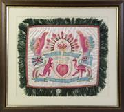 Sale 8994W - Lot 676 - Framed Silk Of  Souvenir Of Palensteine 1941, For My Sister (65cm x 60cm)