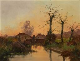 Sale 8401 - Lot 573 - Eugene Galien-Laloue (1854 - 1941) - Rural Scene 50 x 65cm