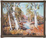 Sale 8420 - Lot 577 - John Samuel Loxton (1903 - 1969) - Ghost Gums, Alice Springs 75 x 90cm