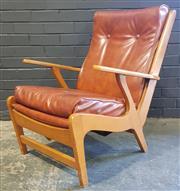 Sale 8979 - Lot 1012 - Vintage Timber Armchair (h:80 x w:61cm)