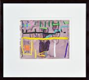 Sale 8415 - Lot 537 - Michael Johnson (1938 - ) - Collins Street #5, 1987 19 x 24cm (frame size: 38.5 x 45cm)