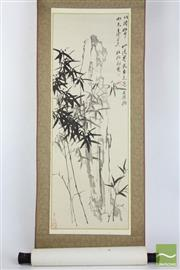 Sale 8494 - Lot 59 - Chinese Scroll Featuring Bamboo