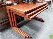 Sale 8493 - Lot 1027 - Quality Danish Teak Nest of Tables