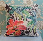 Sale 8500A - Lot 54 - A decorative Pink Flower print 100% Linen Cushion - Condition: As New - Size: 45cm
