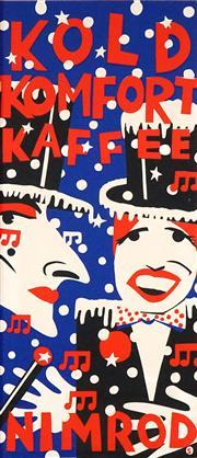 Sale 8565 - Lot 552 - Martin Sharp (1942 - 2013) - Kold Komfort Kaffee (Nimrod) 103 x 45cm