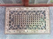 Sale 8611 - Lot 1013 - Cast Iron Door Grate