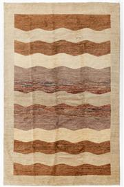 Sale 8770C - Lot 58 - A Striped Afghan Chobi Naturally Dyed In Hand Spun Wool, Very Suitable To Australian Interiors, 315 x 203cm