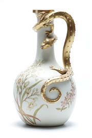 Sale 8864O - Lot 627 - A Royal Worcester Salamander Themed Vase