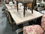 Sale 8863 - Lot 1014 - Recycled Elm Dining Table with Lime Wash Finish