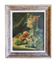 Sale 8960J - Lot 11 - Ernest Romanet 1876 - 1956 French  Nature morte aux fleurs oil on canvas  signed 46 x 38 cm