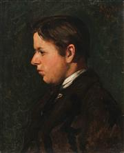 Sale 9038 - Lot 587 - Artist Unknown - Portrait of C19th Gentleman 53.5 x 43.5 cm (frame: 60 x 50 x 2 cm)