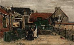 Sale 9116 - Lot 564 - Ginette Rapp (1928 - 1998) Rouellé & Urk oil on canvas 33.5 x 55.5 cm (frame: 47 x 69 x 3 cm) signed lower right
