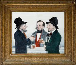 Sale 8599A - Lot 10 - Artist Unknown (XIX) - Taking a Smile 24.5 x 29cm