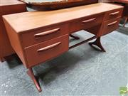 Sale 8451 - Lot 1065 - G-Plan teak dressing table / desk