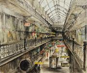 Sale 8484 - Lot 596 - Essie Nangle (1915 - 2006) - The Grand Arcade, Sydney 49.5 x 59.5cm
