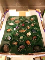 Sale 8582 - Lot 2239 - 23 Polished Gemstone Key Rings