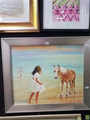 Sale 8645 - Lot 2042 - Marcia Rea - Oscar & Lucinda, oil on canvas board, 59 x 69cm, signed lower