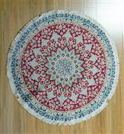 Sale 8717C - Lot 94 - Persian Round Nain 135cm x 135cm