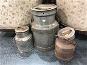 Sale 8868 - Lot 1196 - Set of 3 Graduated Milk Urns