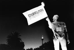 Sale 8912A - Lot 5053 - Out Front Against AIDS, Sydney Gay and Lesbian Mardi Gras Parade (1989), 25 x 17 cm, silver gelatin, Photographer: Steve Christo