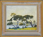 Sale 8358 - Lot 600 - Frederick Leist (1878 - 1945) - Landscape 18 x 23cm