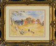 Sale 8411A - Lot 5064 - John Cleghorn (XIX) - Children Gambling, 1880 19 x 26cm