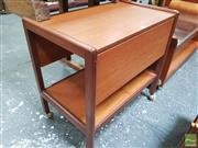 Sale 8451 - Lot 1092 - 1960s teak tea trolley with drop leaves