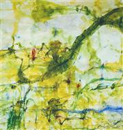Sale 8526 - Lot 534 - John Olsen (1928 - ) - Frog & Banana Leaf 84.5 x 80cm