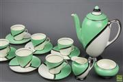 Sale 8626 - Lot 36 - Royal Doulton De Luxe Espresso Suite for 6 Persons