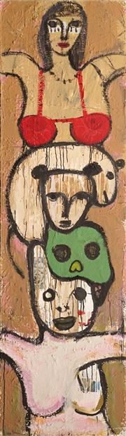 Sale 8722A - Lot 5029 - Stephen Langdon - Untitled 230 x 65.5cm