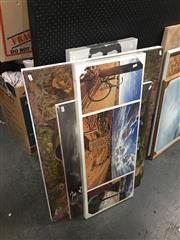 Sale 8707 - Lot 2088 - Set of (7) Assorted Decorative Prints on canvas incl. Banksy