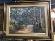 Sale 8720 - Lot 2062 - John Emmett Afternoon Shadows, Kanimbla Valley, Blue Mts oil on board 29 x 39cm, signed lower left
