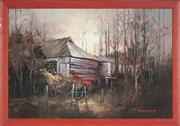 Sale 8853 - Lot 2044 - John Lovett (1953 - ) - Untitled (Country Cottage) 30 x 45cm