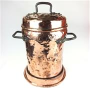 Sale 8872C - Lot 1 - Large French Copper Water Vessel with Lid