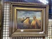 Sale 8927 - Lot 2019 - Mary Laden - The Wheat Belt, Winnipeg, Canada, oil on board, 34 x 38 cm