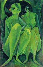Sale 9002A - Lot 5021 - Bill Coleman (1922 - 1993) - Dancers 30 x 20 cm