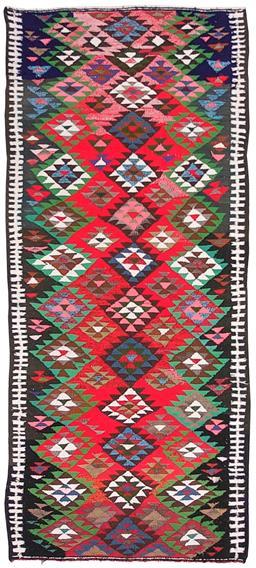 Sale 9141C - Lot 32 - PERSIAN VINTAGE GYPSY KILIM, 130x295