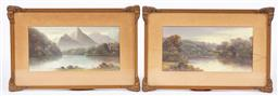 Sale 9170H - Lot 92 - Charles (Chaz) Young, Two landscape views, oil on board, SLL, one with broken glass