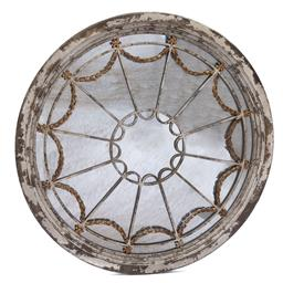 Sale 9200P - Lot 81 - An antique style mirror with aged mirror plate, Diameter 130cm