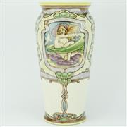 Sale 8332 - Lot 23 - Doulton Lambeth Vase by J.H. McLennan