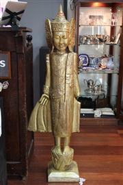 Sale 8327 - Lot 90 - Thai Standing Gilt Buddha