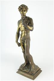 Sale 8403 - Lot 53 - Composition Figure of David