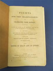 Sale 8419A - Lot 17 - Boxing 1855 - a good copy of Fights for the Championship (Bells London 1855)