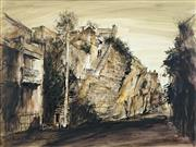 Sale 8475A - Lot 5051 - Essie Nangle (1915 - 2006) - Harden Stairs, Wooloomooloo 44.5 x 60cm