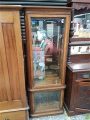 Sale 8601 - Lot 1504 - Light up Glass Front Display Cabinet (H: 184 W: 64 D: 33cm)