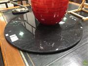 Sale 8629 - Lot 1080 - Black Granite Table Top Only (D: 80cm)