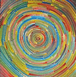 Sale 9081A - Lot 5072 - Bernadine Johnson Kamara (c1974 - ) - Circle 60 x 60 cm (stretched and ready to hang)