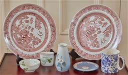 Sale 9098H - Lot 95 - A quantity of Wedgwood and Royal Copenhagen to include boxed plates, Jasper pin dish, a Thomas trinket bowl, A B&G posy vase and a s...