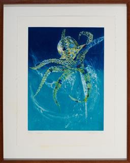 Sale 9130S - Lot 39 - Frank Hodgkinson (1919 - 2001) - Octopus, 1997 60 x 44.5 cm (frame: 95 x 76 x 4 cm)